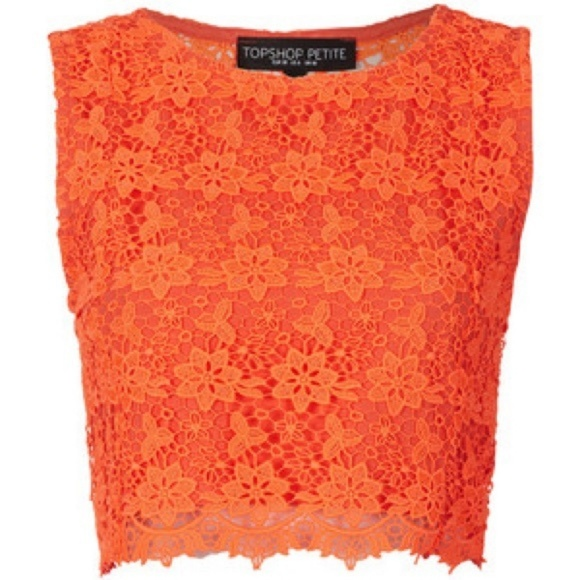 TOPSHOP Ladies Womens Green Floral Lace Vest Top Sleeveless Summer Size 4